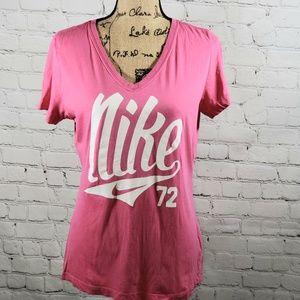 NIKE pink tshirt slimfit size Large